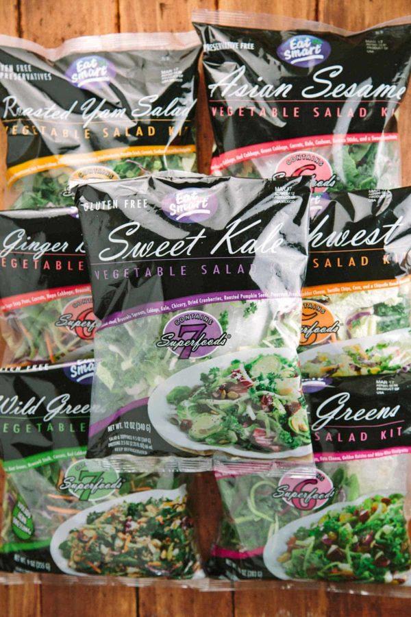 vegetable salad kit bags