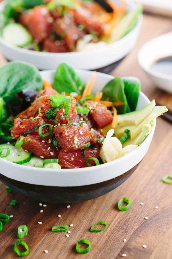 Easy Homemade Ahi Tuna Poke Bowl Recipe Jessica Gavin