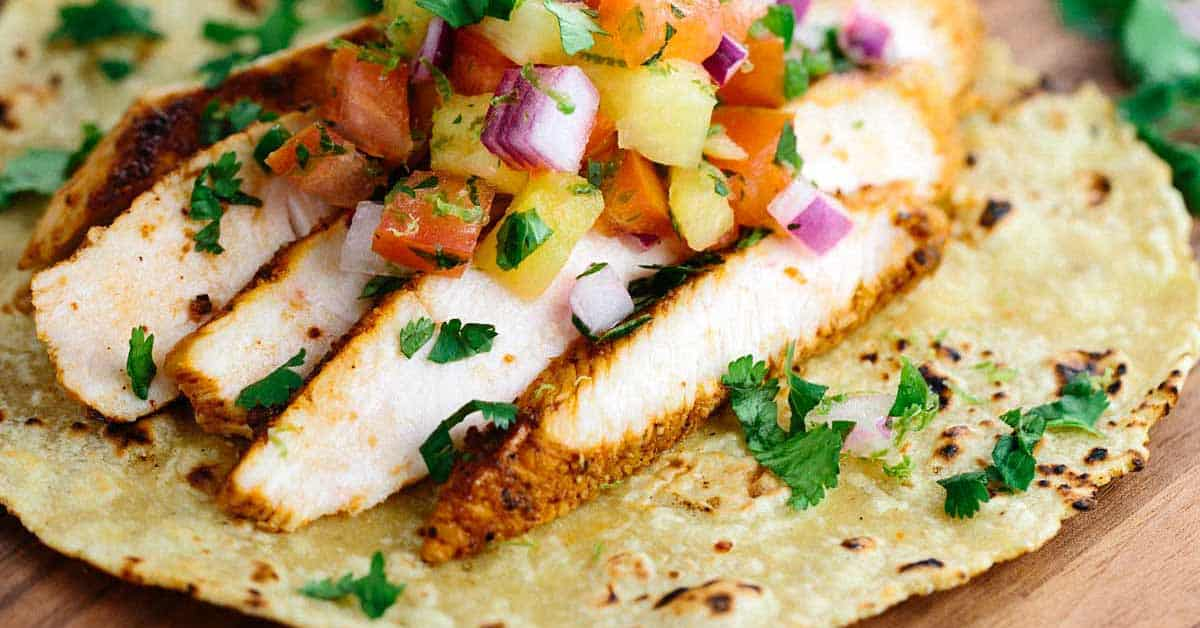 Blackened Chicken Tacos With Pineapple Salsa Recipe Jessica Gavin