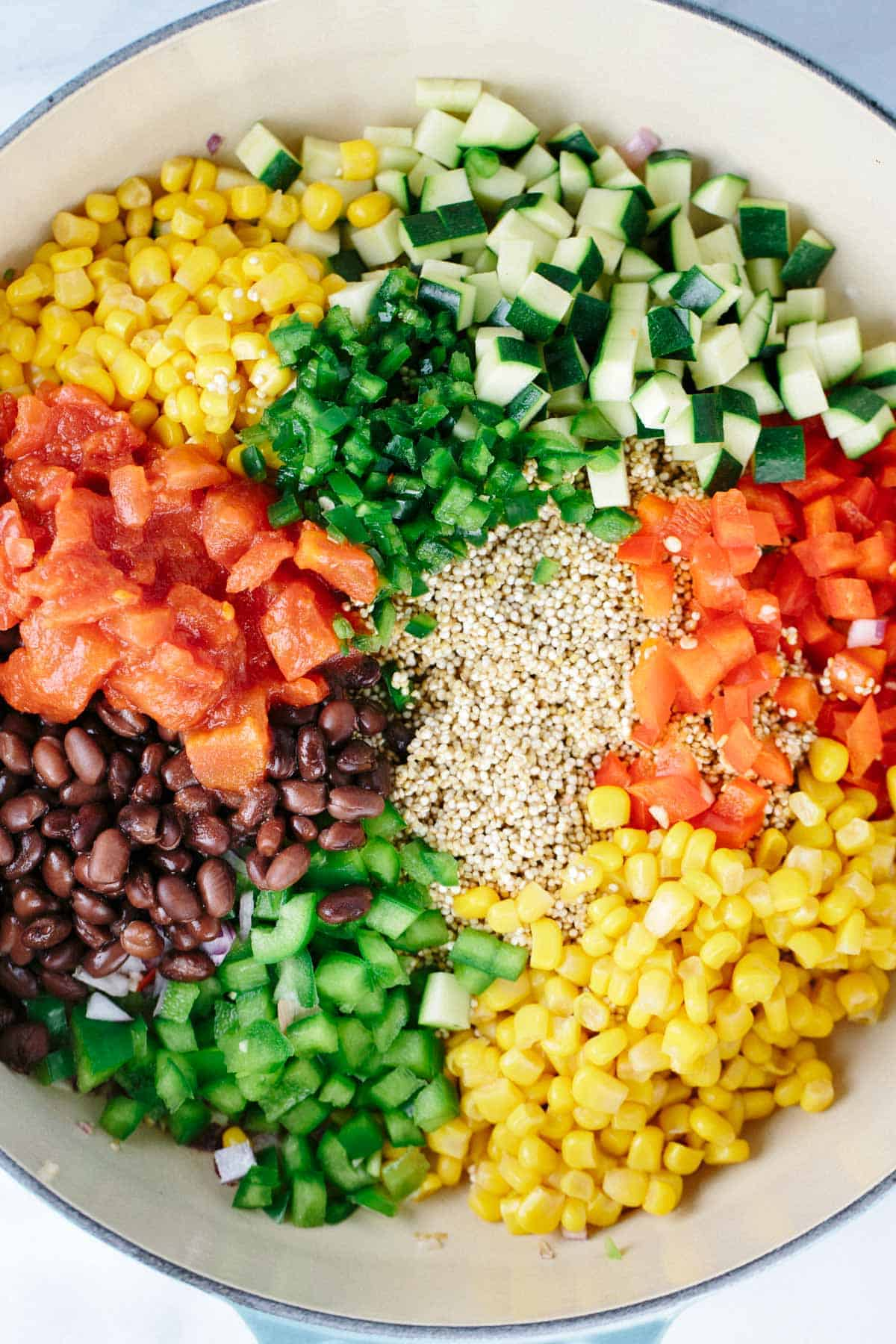 Food 1 2016 6 10 Vegetable Complete Protein Mexican Summer Salad >> One Pot Mexican Spiced Vegetable Quinoa Jessica Gavin