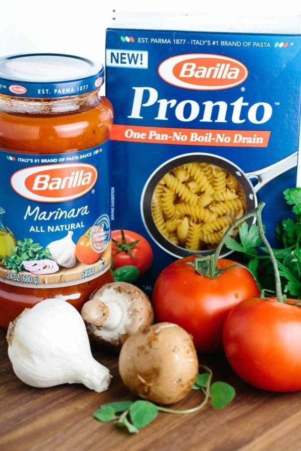 Barilla Pronto pasta and sauce