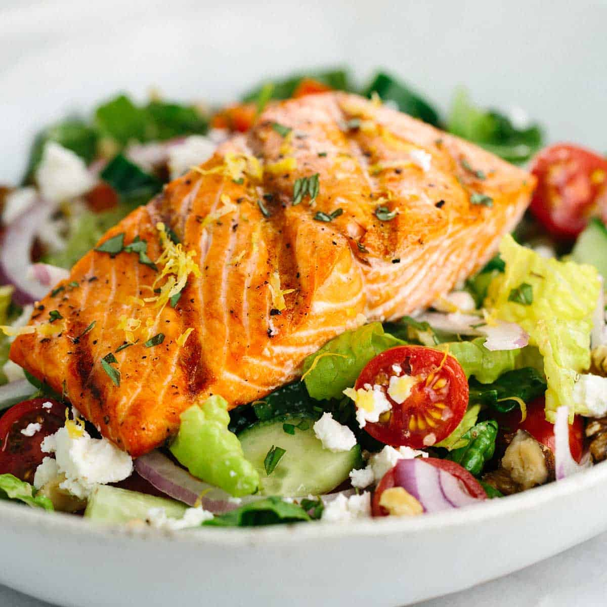 Image result for salmon and salad
