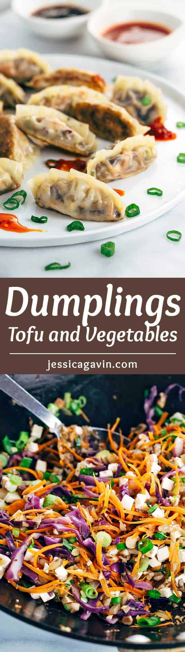 Pan Fried Crispy Vegetable Tofu Dumplings - A simple Chinese recipe that is so fun to make! An irresistible vegetarian appetizer dipped in your favorite sauce.