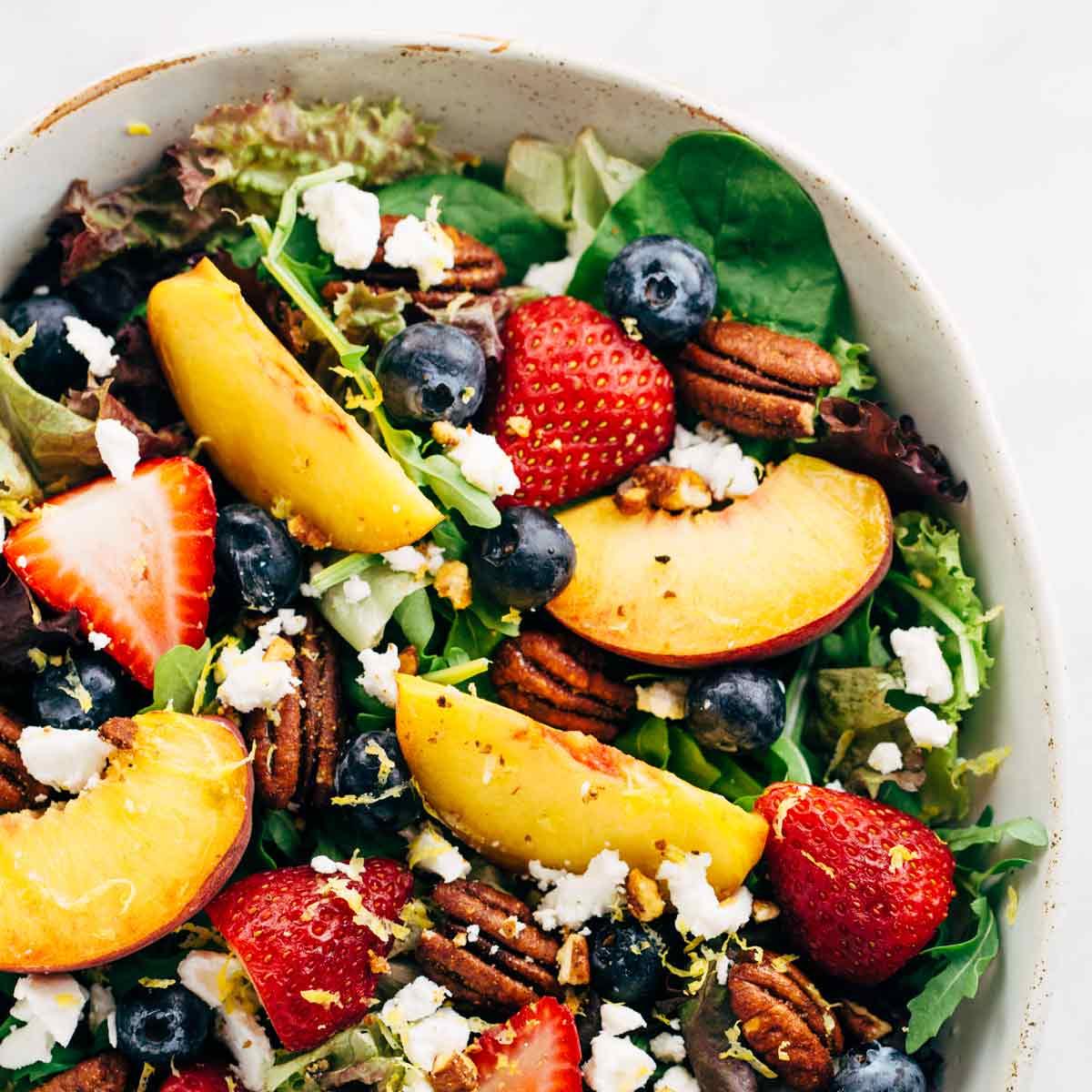 summer fruit salad with peach poppy seed dressing jessica gavin