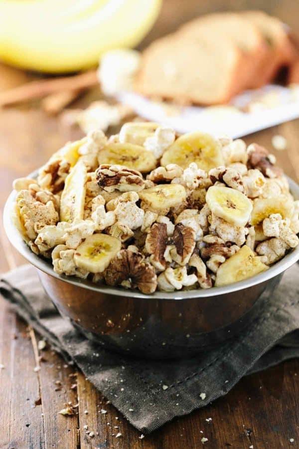 Banana Bread Flavored Popcorn Snack