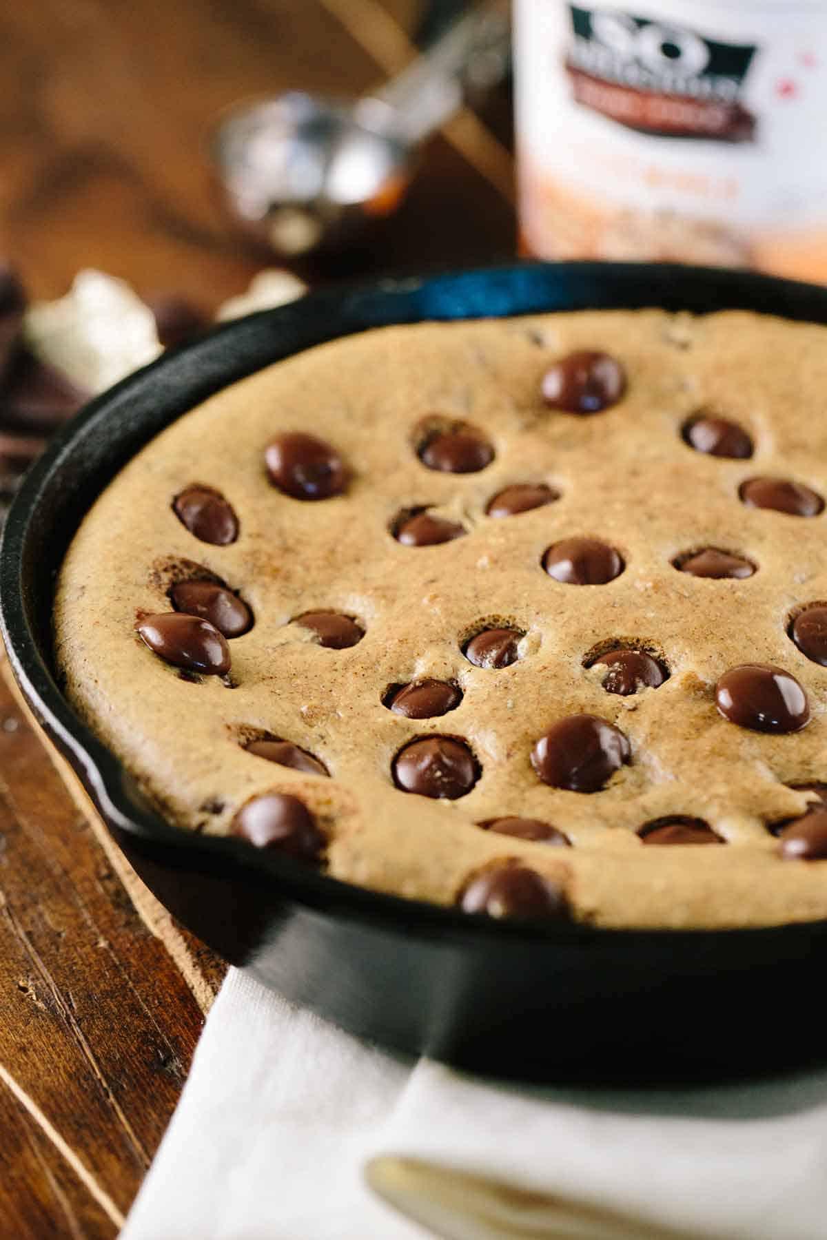 Chocolate Chip Cookie Skillet with Frozen Dessert | Jessica Gavin