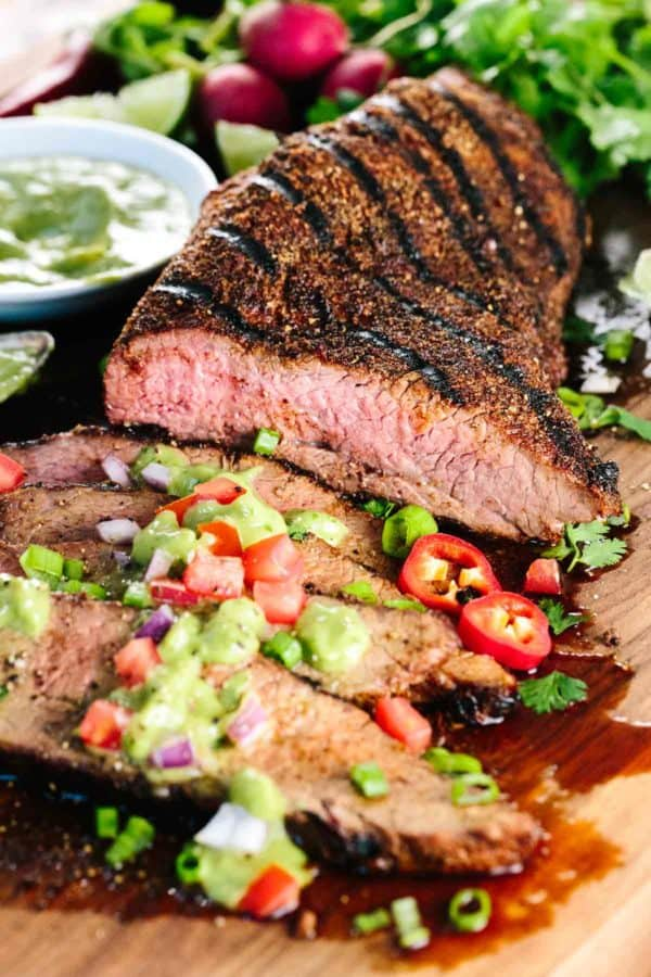 Juicy Grilled Tri-Tip with Creamy Avocado Salsa