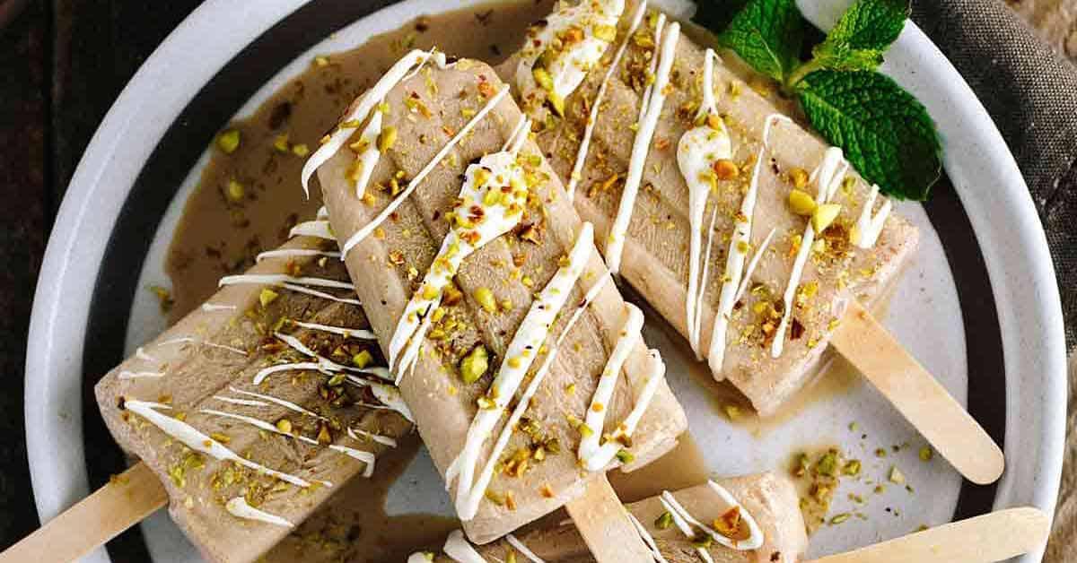 Spiced Chai Tea Latte Popsicles