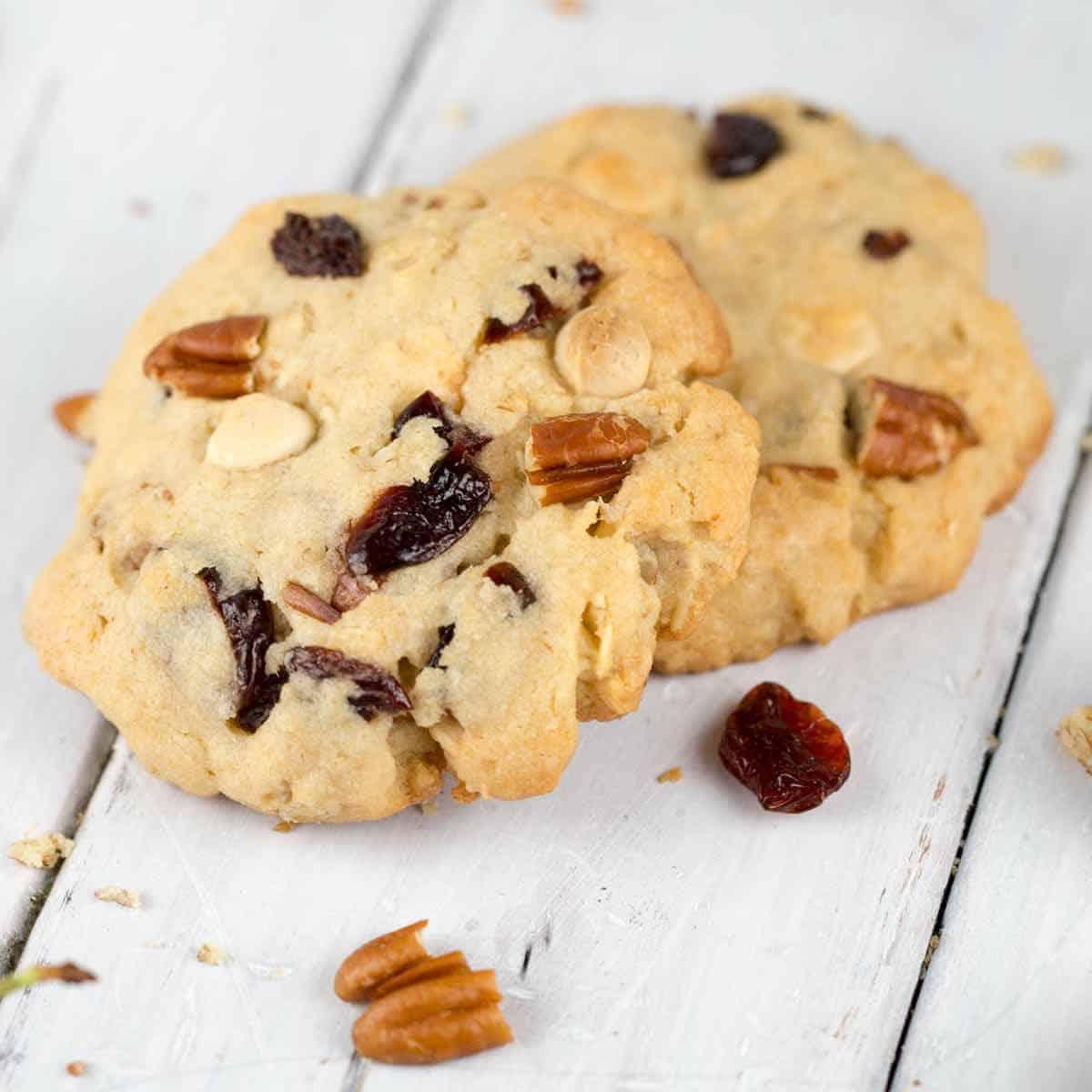cranberry pecan white chocolate cookies