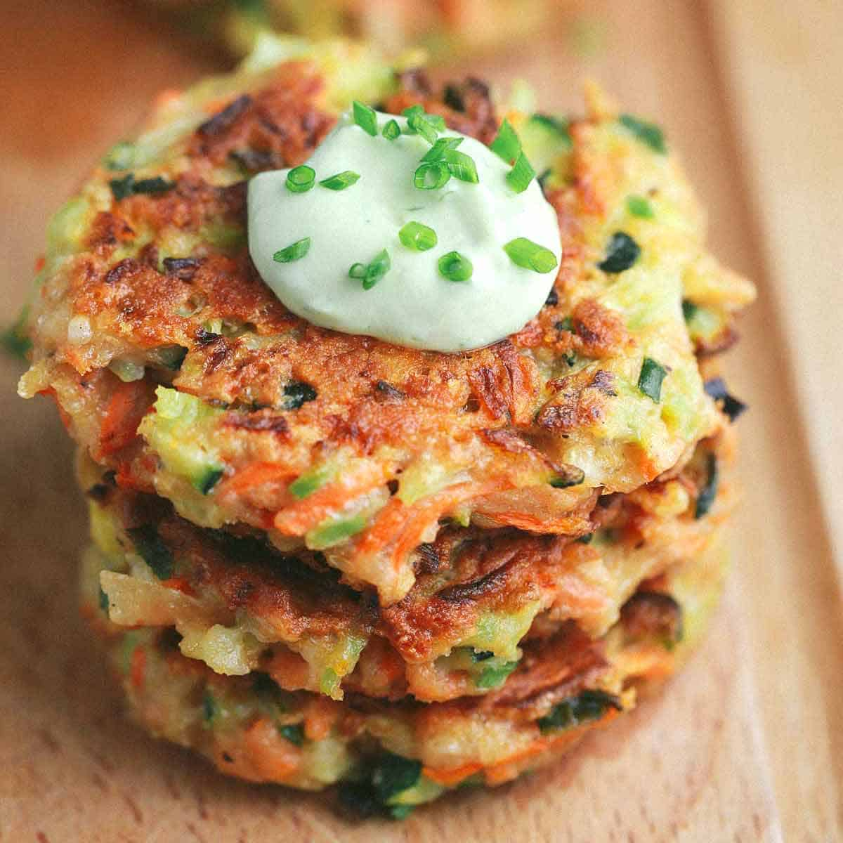 Crispy Vegetable Fritters With Dipping Sauce Jessica Gavin