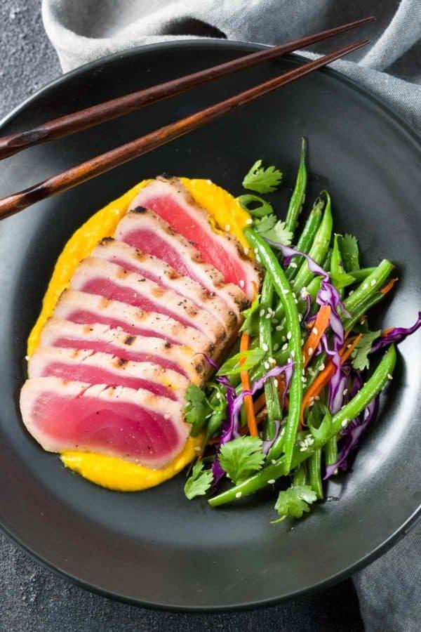 Seared Ahi Tuna with Crispy Grean Beans