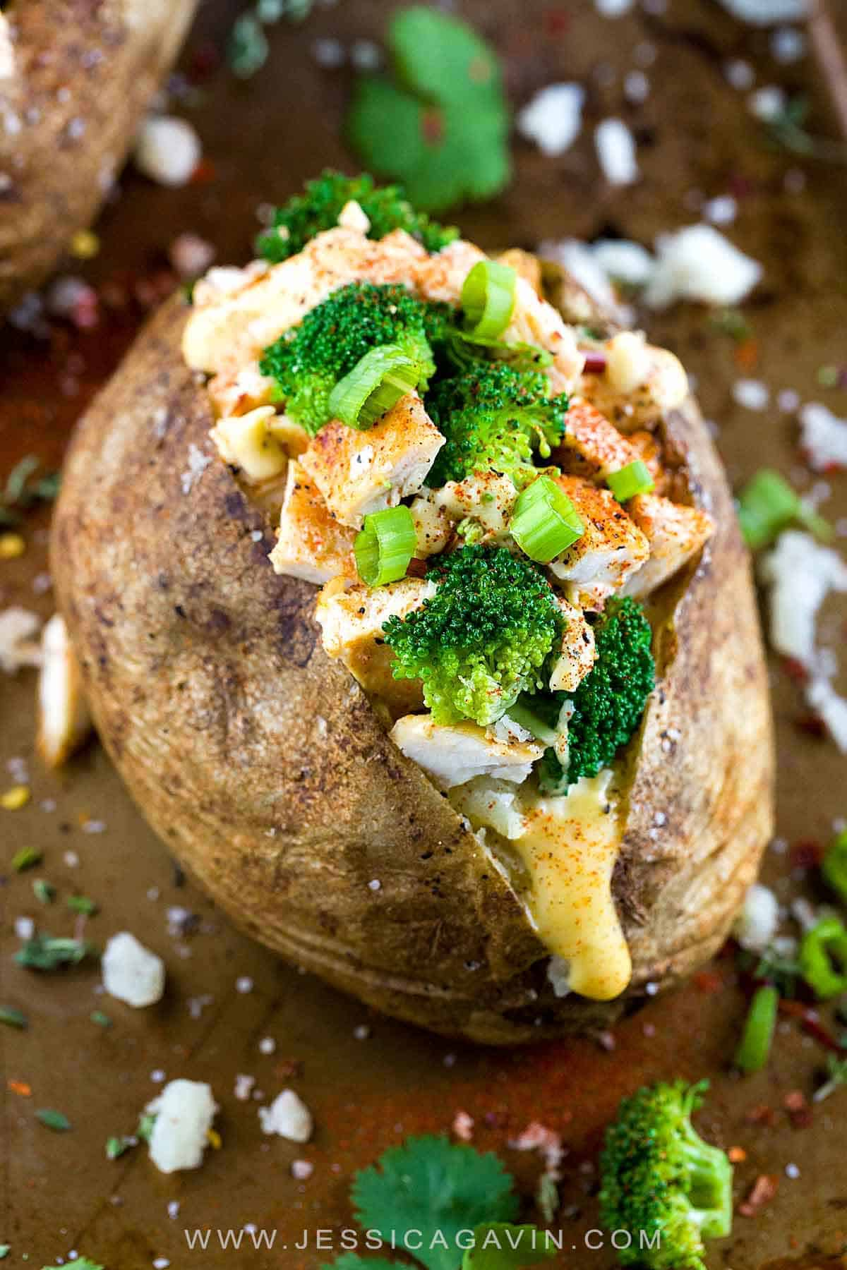 Stuffed Baked Potato With Chicken Jessica Gavin