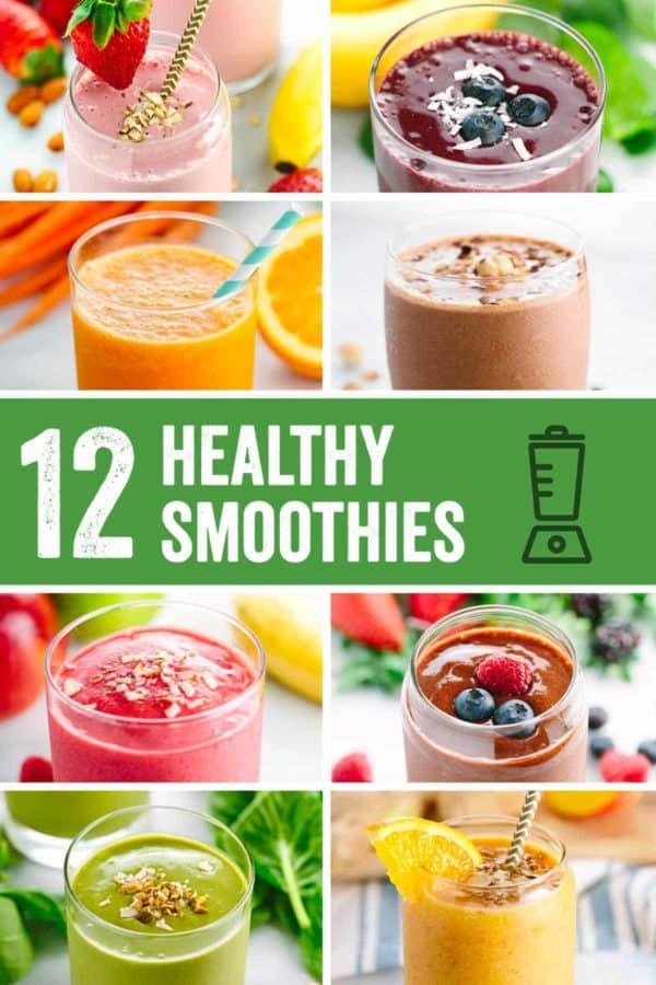 Roundup: Healthy Smoothie Recipes - A refreshing collection of five-minute breakfast or snack smoothie recipes to energize your day! | jessicagavin.com