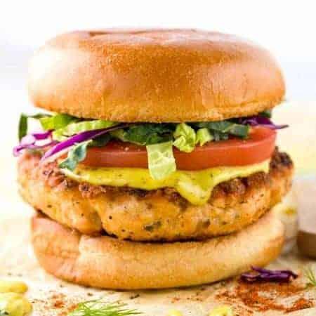 Salmon Burgers with Creole Mustard