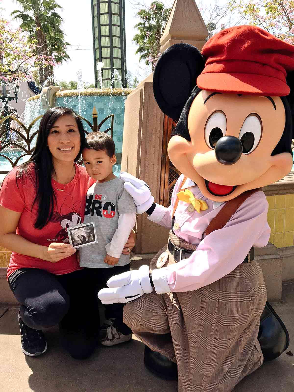 Jessica's baby announcement at Disneyland