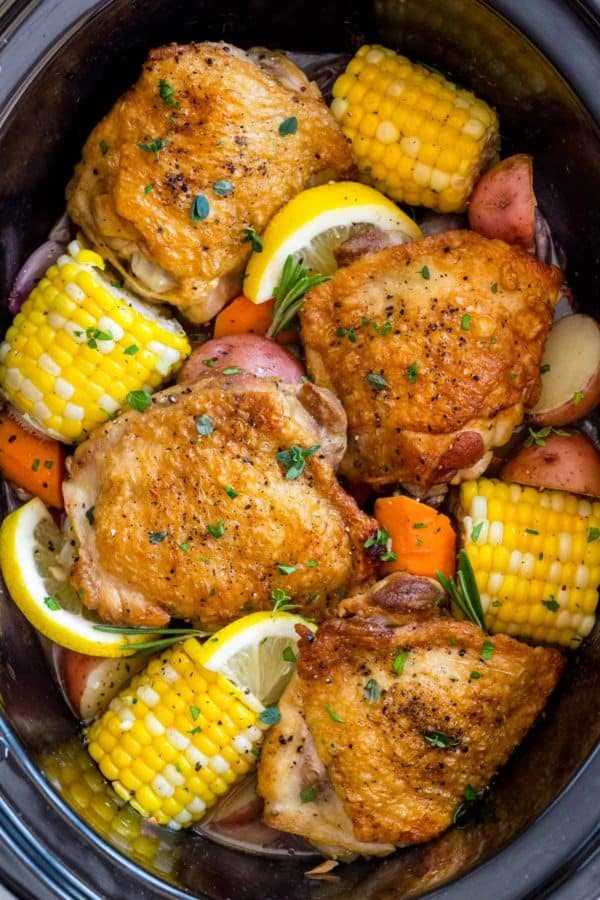 Easy meals to cook with chicken thigh slow cooker