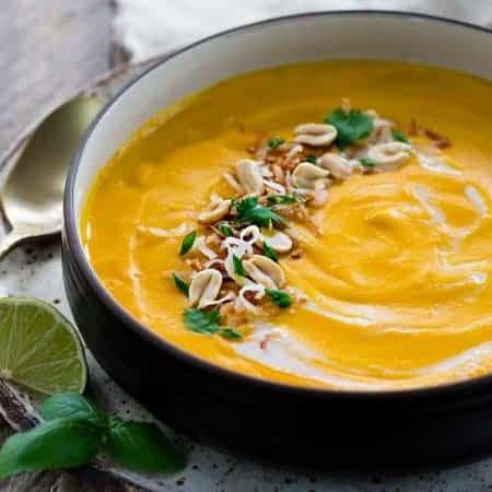 Thai Coconut Soup with Sweet Potato