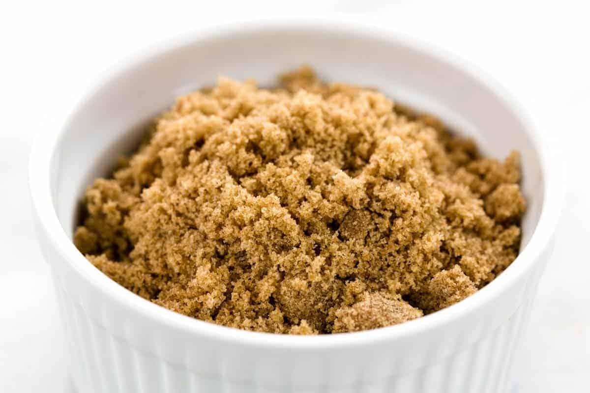 Jar of brown sugar