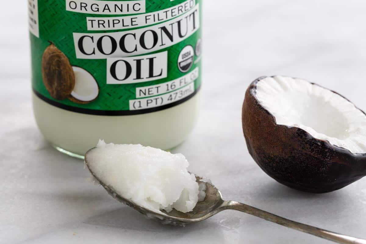 Spoon full of coconut oil