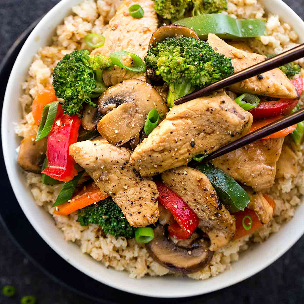 Chinese Chicken Stir Fry With Whole30 Ingredients Jessica Gavin