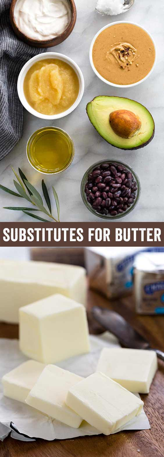 Healthy substitutes for butter in baking that can be easily incorporated into recipes. It may be surprising to see beans, avocado, and applesauce as replacements, but they work! This guide provides 8 alternative butter options and how to use them.