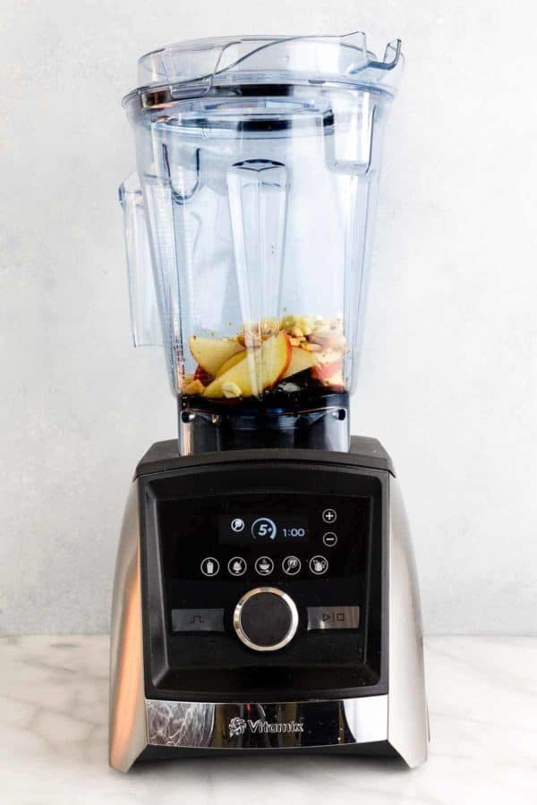 Vitamix Ascent™ Series A3500 blender with ingredients for making a salad dressing