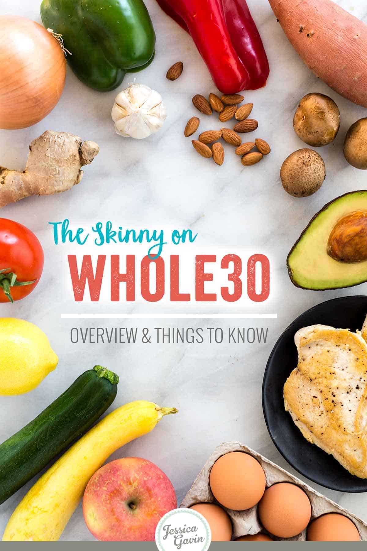 Learn about the whole30 diet: what it is, foods you can eat, the ones you should avoid, and recipes to try. This program is a strict, short-term 30-day elimination diet for nutrition reset. #whole30 #diet #healthyeating