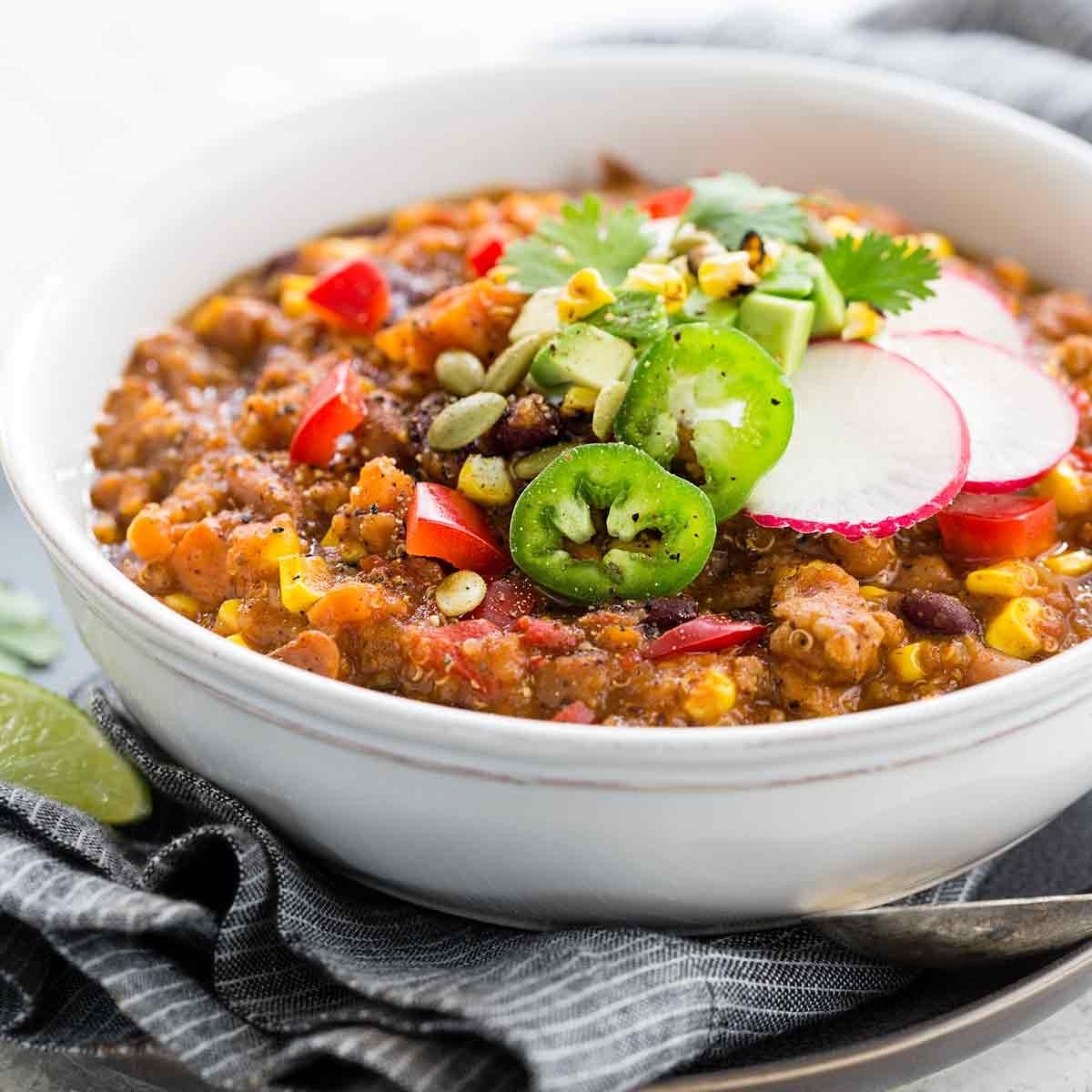 Instant Pot Turkey Chili With Quinoa Jessica Gavin