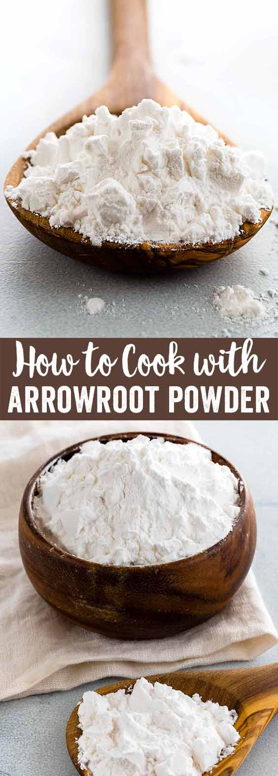 Arrowroot powder, also called flour or starch is an effective thickening agent used to add texture and structure in cooking and baking applications. Learn how this grain-free starch is used to thicken sauces, fillings and lighten up the texture of alternative flour baked goods.
