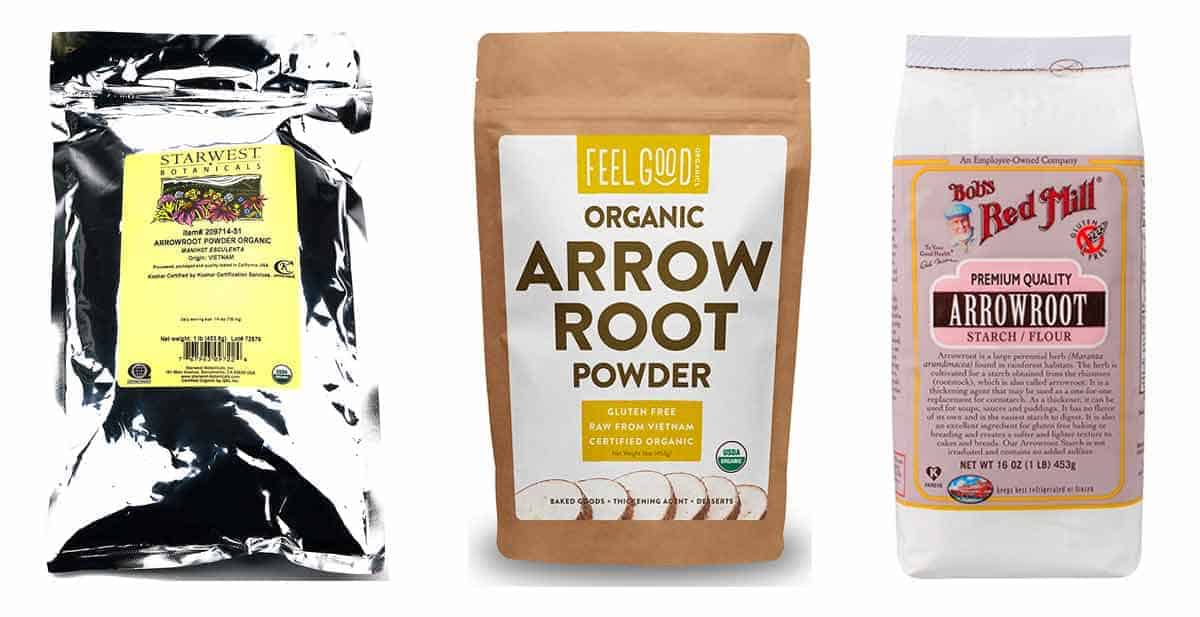 Three bags of Arrowroot flour found on Amazon