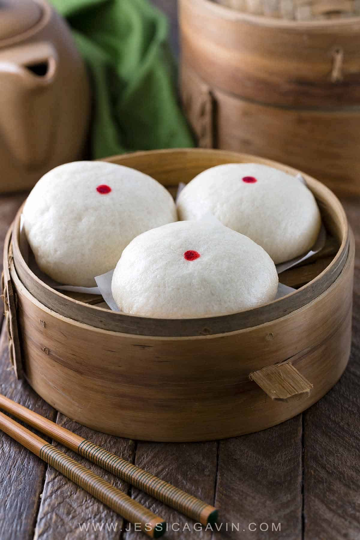 Chinese steamed custard buns also called Nai Wong Bao are deliciously sweet dessert. A popular Asian treat found at Dim Sum restaurants, but I'm going to show you how to make these right at home! #dimsum #chinese #custardbuns #bao #naiwongbao