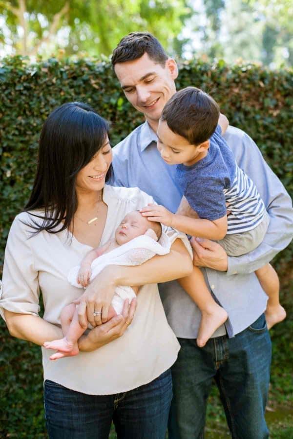 Gavin family welcoming Olivia