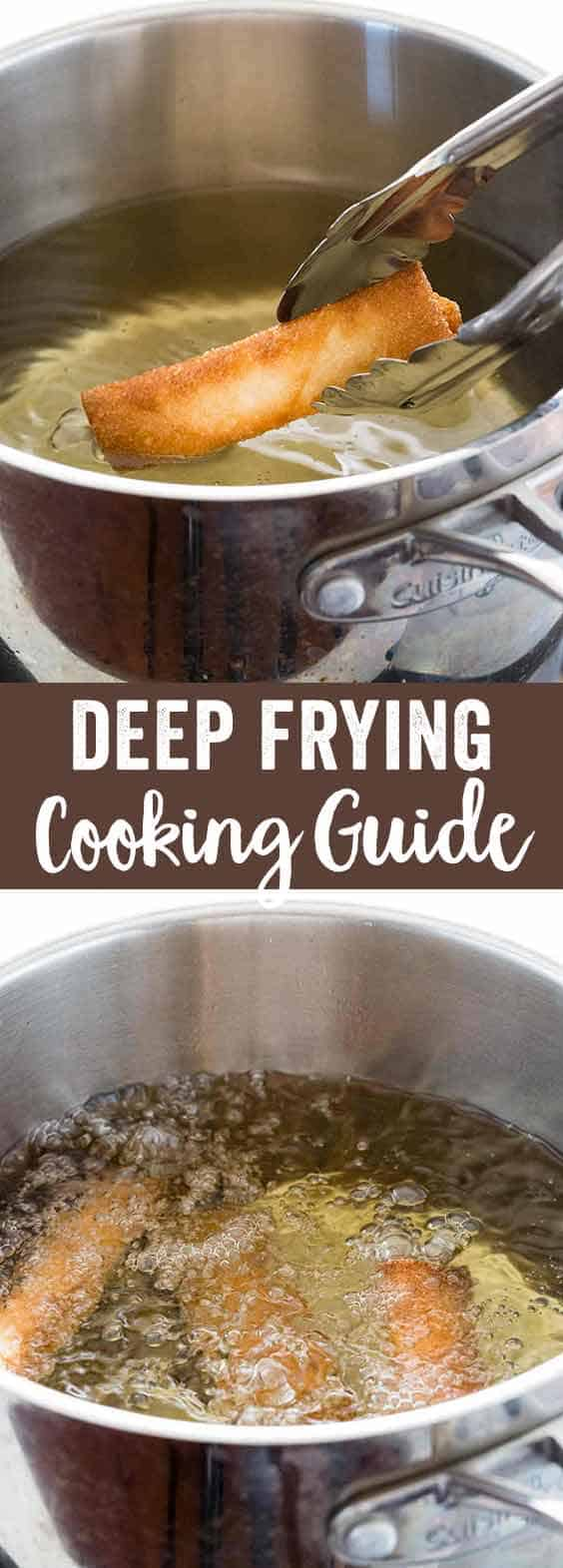 Deep frying is a dry-heat cooking method that yields foods that have a crunchy golden brown surface and tender interior. Learn how to deep fry, choosing the right oil, and the benefits of using this technique.