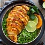 Orange Chicken and Broccoli Rice Bowls