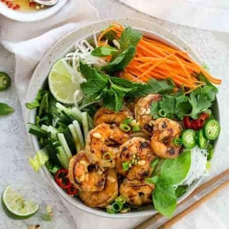 Vietnamese Shrimp Salad with Noodles