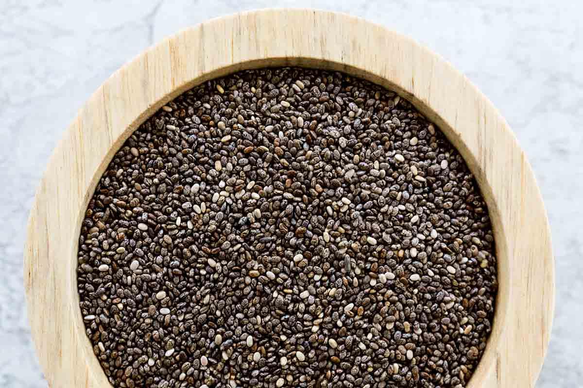 Big bowl of chia seeds