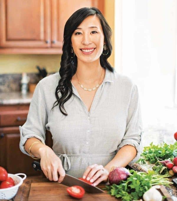 Jessica Gavin in the kitchen