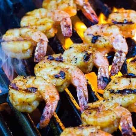 Grilled Shrimp with Honey Garlic Sauce