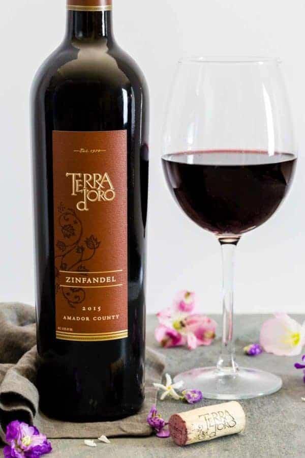 2015 bottle of Terra d Oro Zinfandel