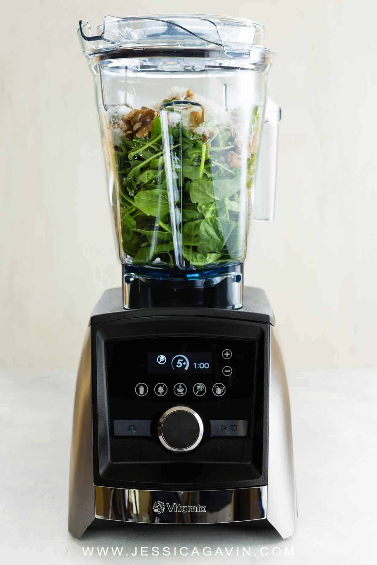 Information guide to kitchen blender basics, covering the uses, benefits, maintenance, shopping tips, and what makes it different than a food processor. #vitamix #ningablender #blender #cooking101