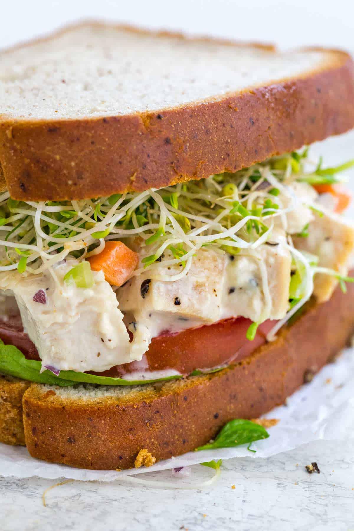 how to make chicken salad sandwich with rotisserie chicken