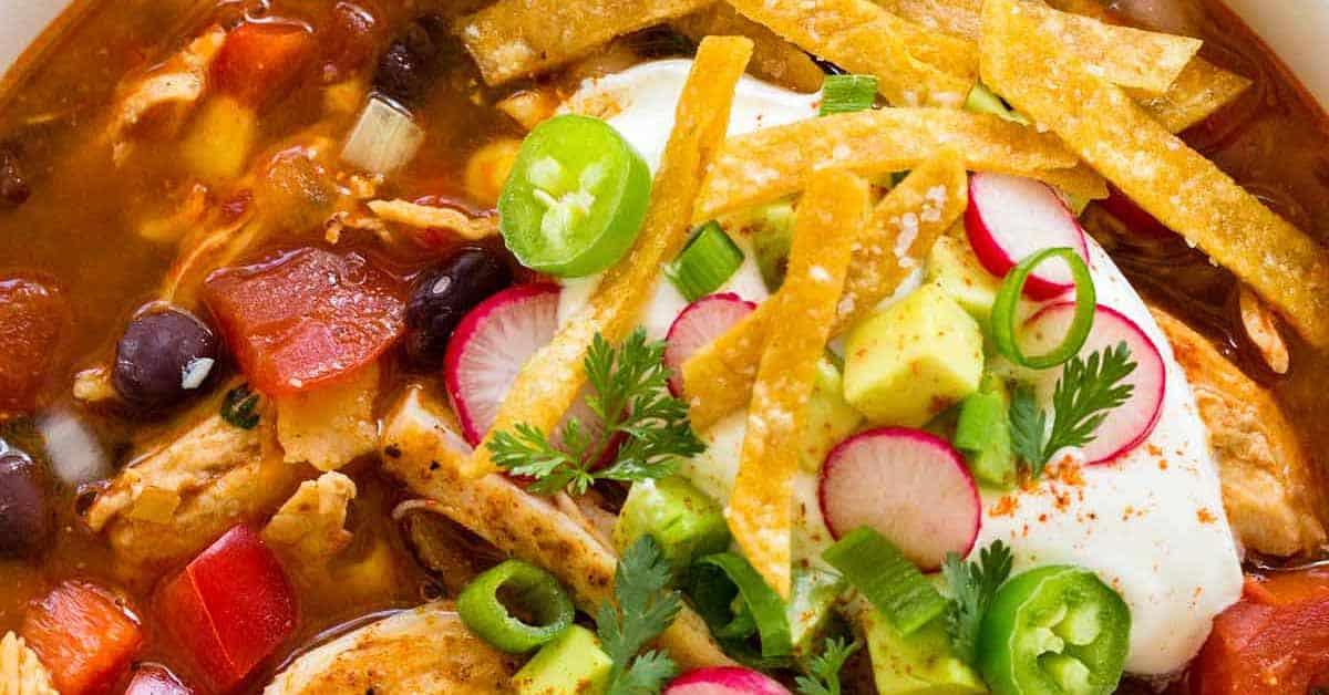 Chicken Tortilla Soup Recipe Jessica Gavin