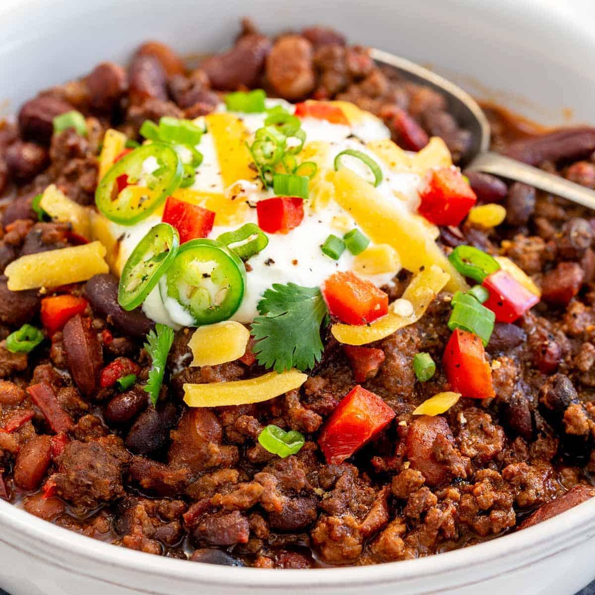 The BEST Instant Pot Chili Recipe