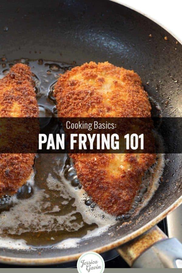 crispy chicken pan frying in oil