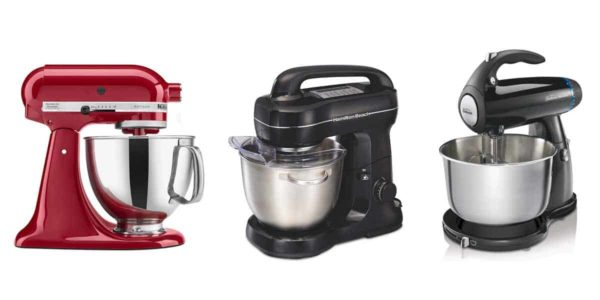 graphic showing 3 popular stand mixers found on amazon