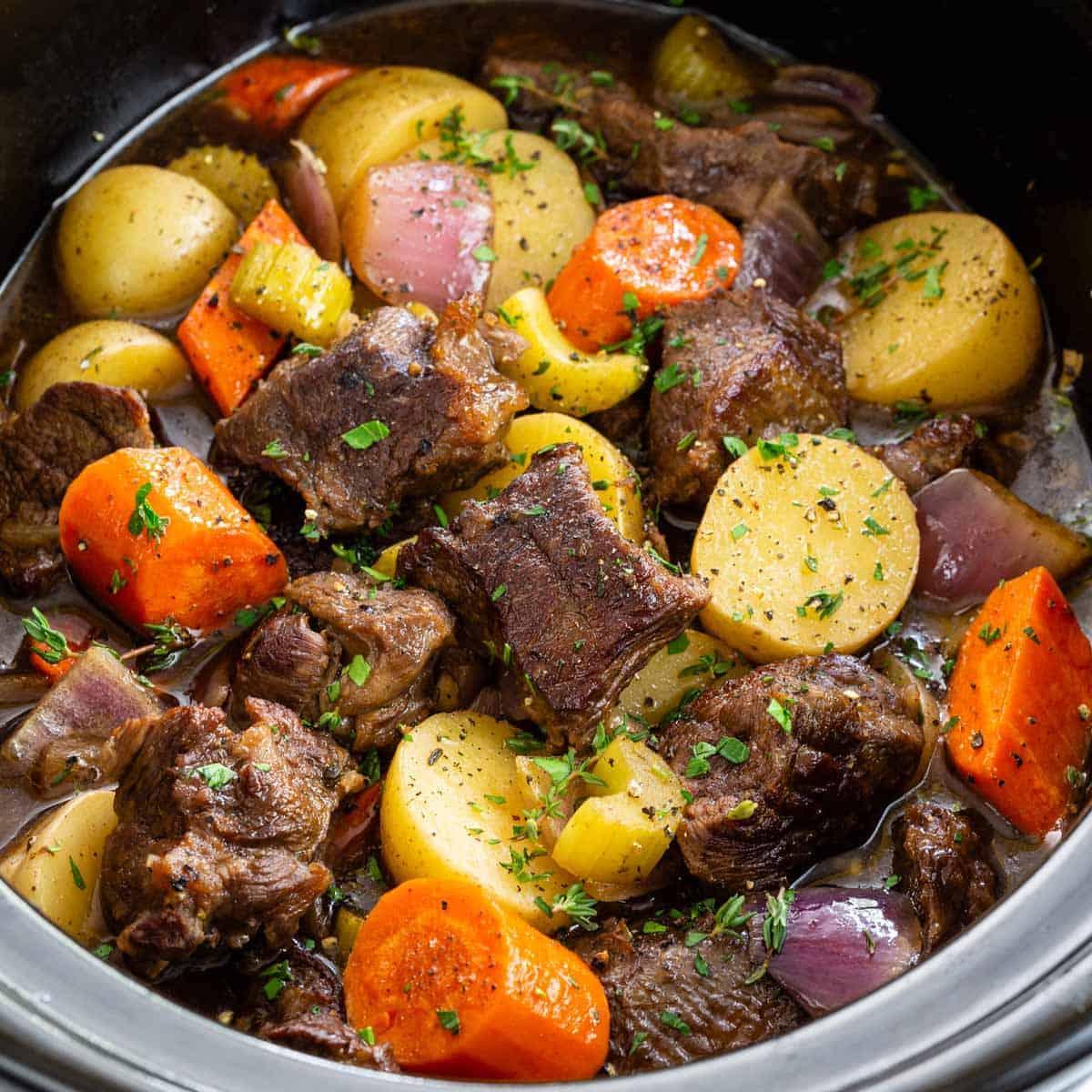 Easy Slow Cooker Beef Stew Jessica Gavin
