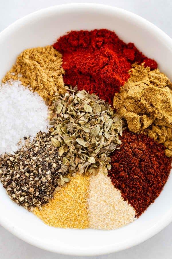 ingredients to make your own taco seasoning