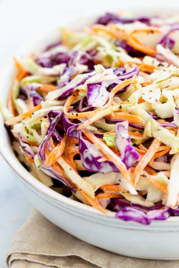 colorful coleslaw in a bowl