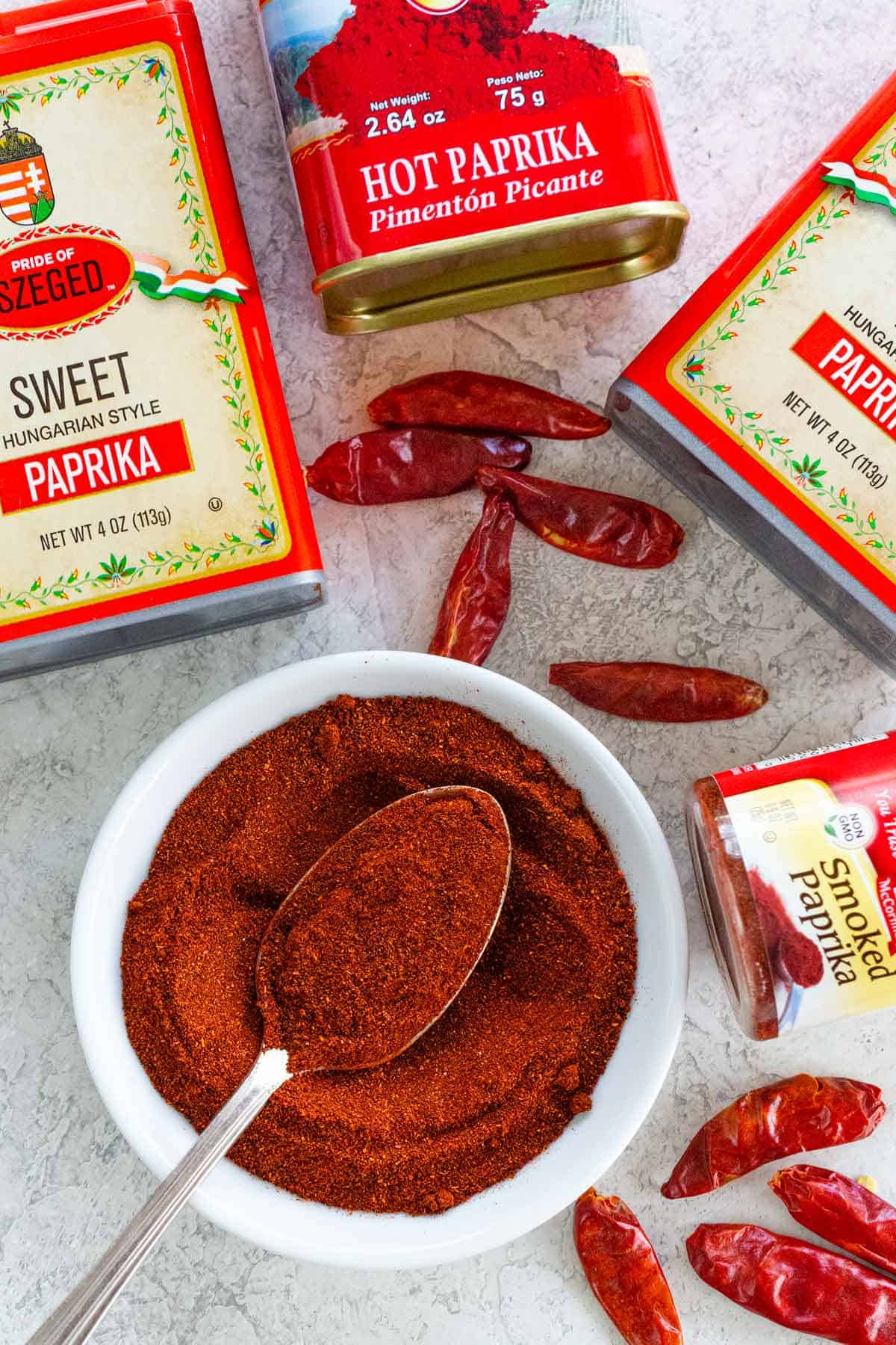 Many would argue that paprika is just as essential to your kitchen as salt and pepper. Here's the lowdown on this popular spice. #paprika #spices #ingredient