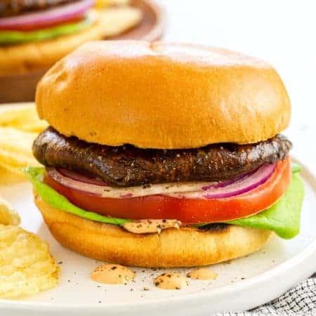 Grilled Portobello Mushroom Burger